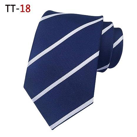 DYDONGWL Corbata Fina Hombre,Corbatas de Seda para Hombre Moda 8CM ...