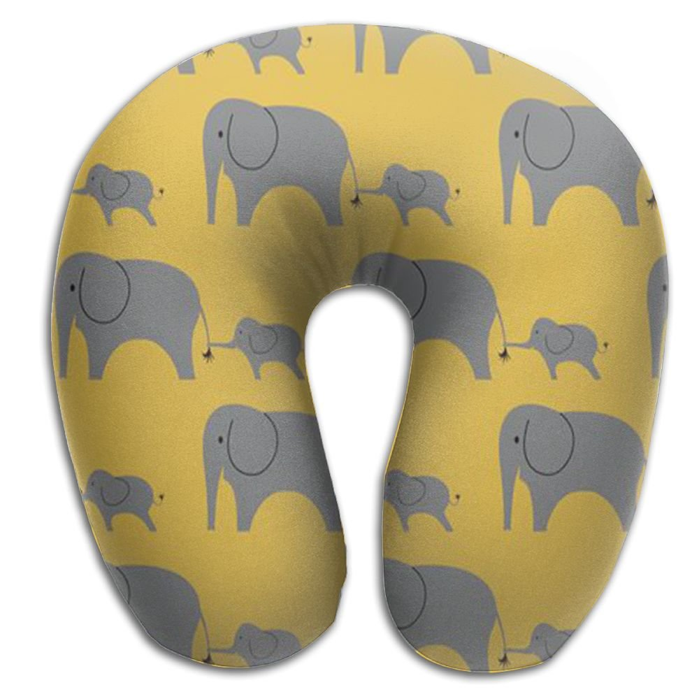 Bohemian Elephant Washable Cover Travel Pillow Therapeutic Memory Foam U-SHAPE For Neck Person