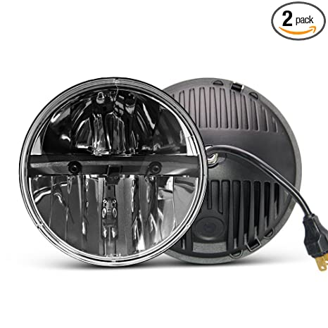 Amazon.com: Uni-Light - Faro delantero redondo LED de 7 ...