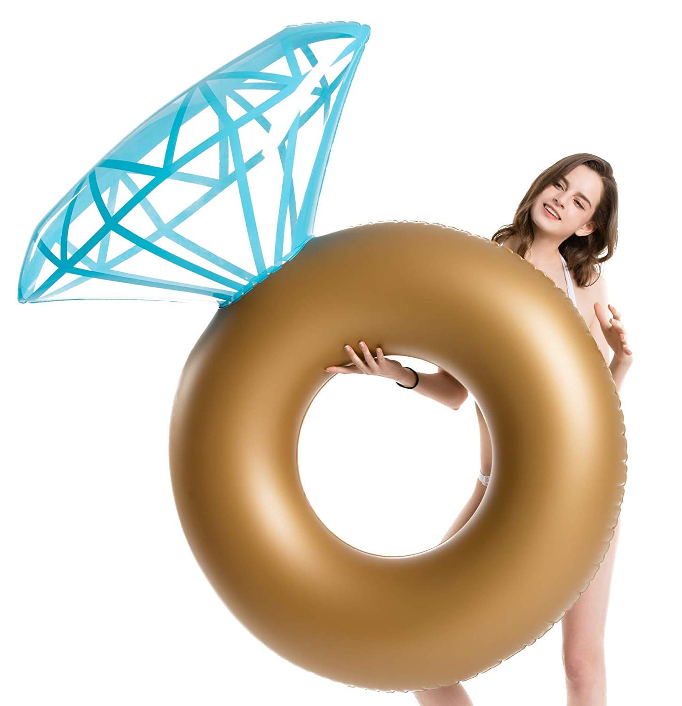 Jasonwell Flotador Diamantes Colchonetas Piscina Hinchables para Piscina Tumbona Flotante Gigante para Adultos y niños Flotadores Gigantes Juguete ...