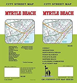 MAP OF MYRTLE BEACH SOUTH CAROLINA /HUGE FOLDOUT /CITY AND STREETS++ ...