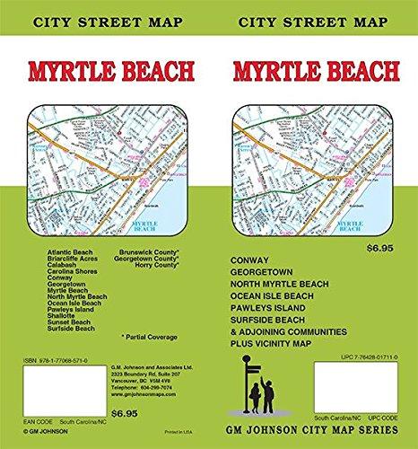 Myrtle Beach South Carolina North Carolina Street Map GM - Myrtle beach map