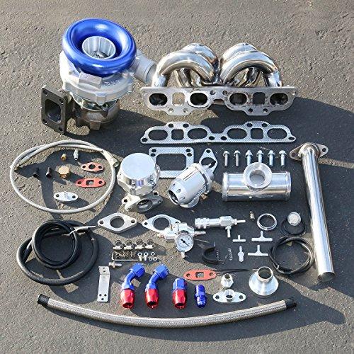 Sr20 Kit Turbo (For Nissan 240SX SR20 Enigne Swap 9pcs T04E Turbo Ram Horn Manifold Upgrade Installation Kit)