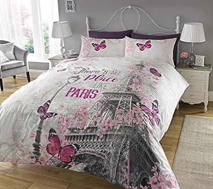 New Paris Romance Duvet Cover & Pillowcase Set Bedding Digital