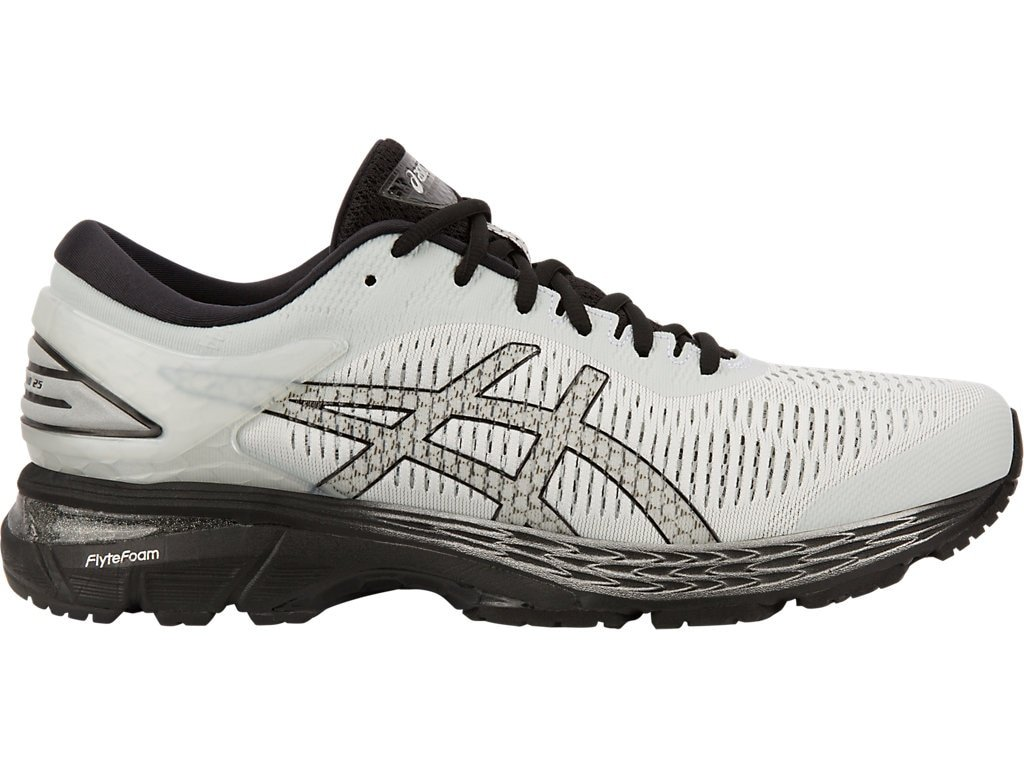 ASICS Gel-Kayano 25 Men's Running Shoe, Glacier Grey/Black, 7 D(M) US
