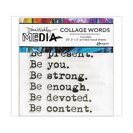 amazon com ranger dina wakley media collage word pack arts crafts