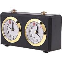 Homyl Pendule Horloge d'Echecs Compteur de Jeu d'Echecs Liquidation Horloge Boîte en Plastique Noir