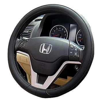 La funda del volante del auto de cuero suave de microfibra antideslizante tamaño M se ajusta al negro para la mayoría de los autos: Amazon.es: Coche y moto