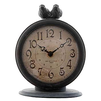 Clayre & Eef 6 kl0362 Reloj mesa Reloj Reloj de pie Pájaros ...