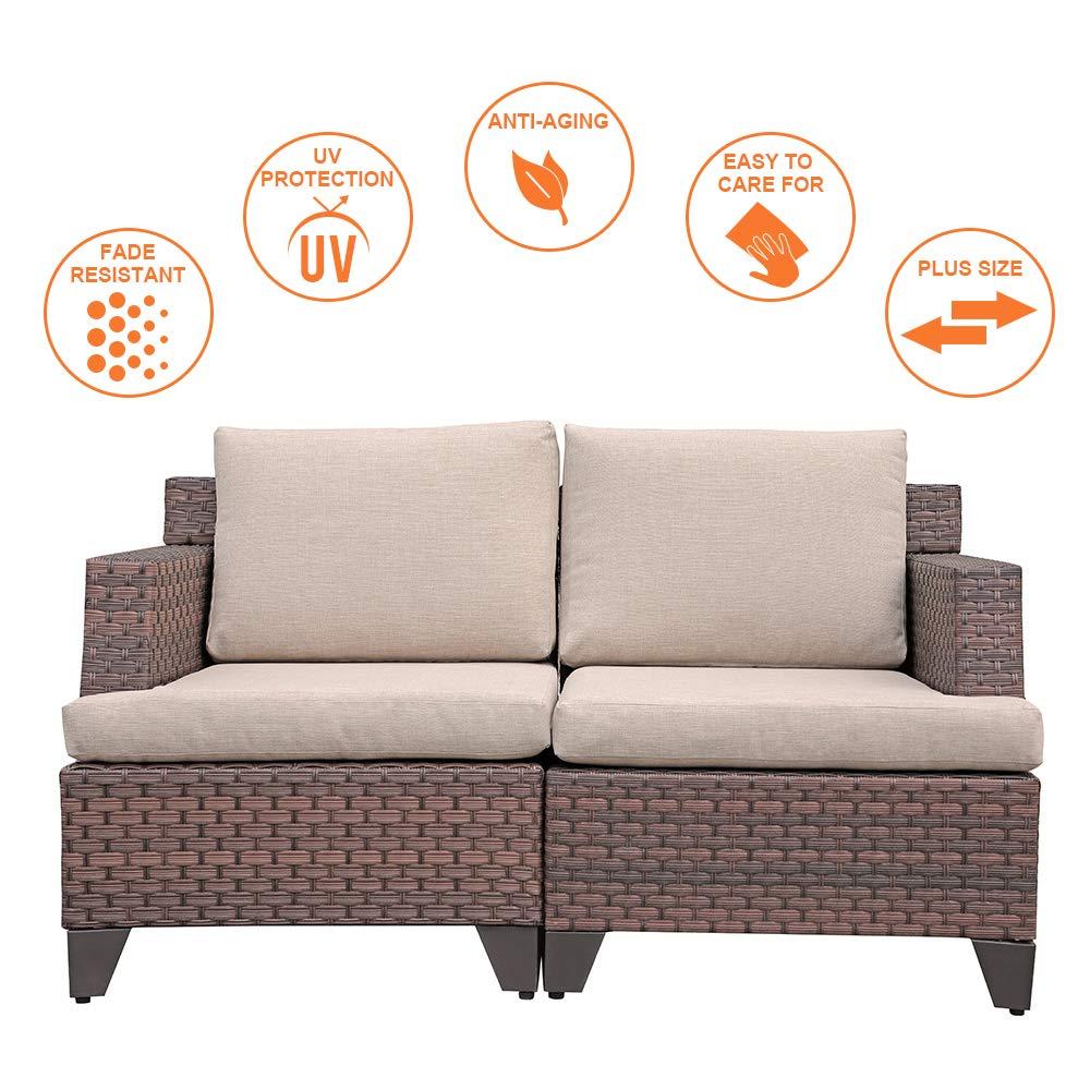 Amazon.com: Sunsitt - Sofá de mimbre tejido para todo tipo ...