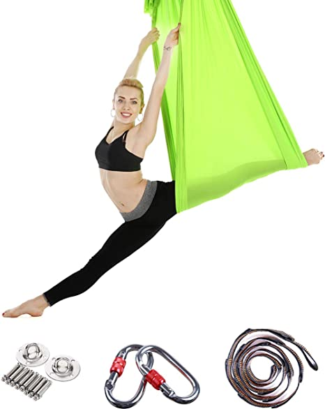Amazon.com : ANBOTA Yoga Trapez Aerial Hammock Swing for ...