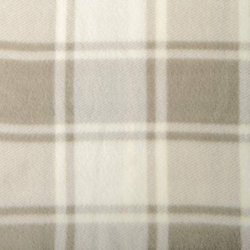Great Bay Home Super Soft Extra Plush Plaid Polar Fleece Sheet Set. Cozy, Warm, Durable, Smooth, Breathable Winter Sheets with Plaid Pattern. Dara Collection Brand. (Full, Taupe) by Great Bay Home (Image #2)