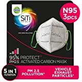 Dettol Anti Pollution Mask N95 Siti Shield Activated Carbon, Pack of 3