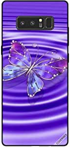Cover For Samsung Galaxy Note8 - Blue Purple Butterfly