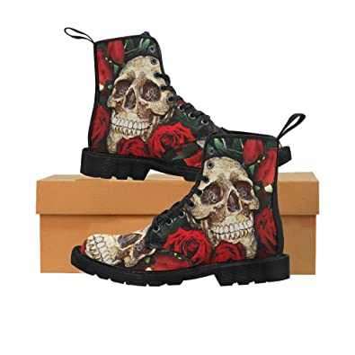 Shoes Skull Hand Lace Up Martin Boots For Women