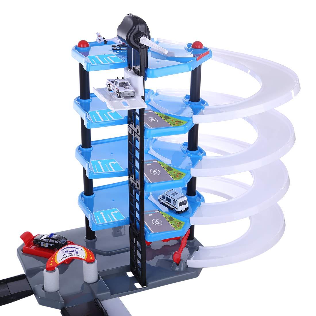 Yavso Parking Coches Juguetes Portatil para Ni/ño Aparcamiento Garaje con Coches y Aviones Parking Juguetes Coches Bebe