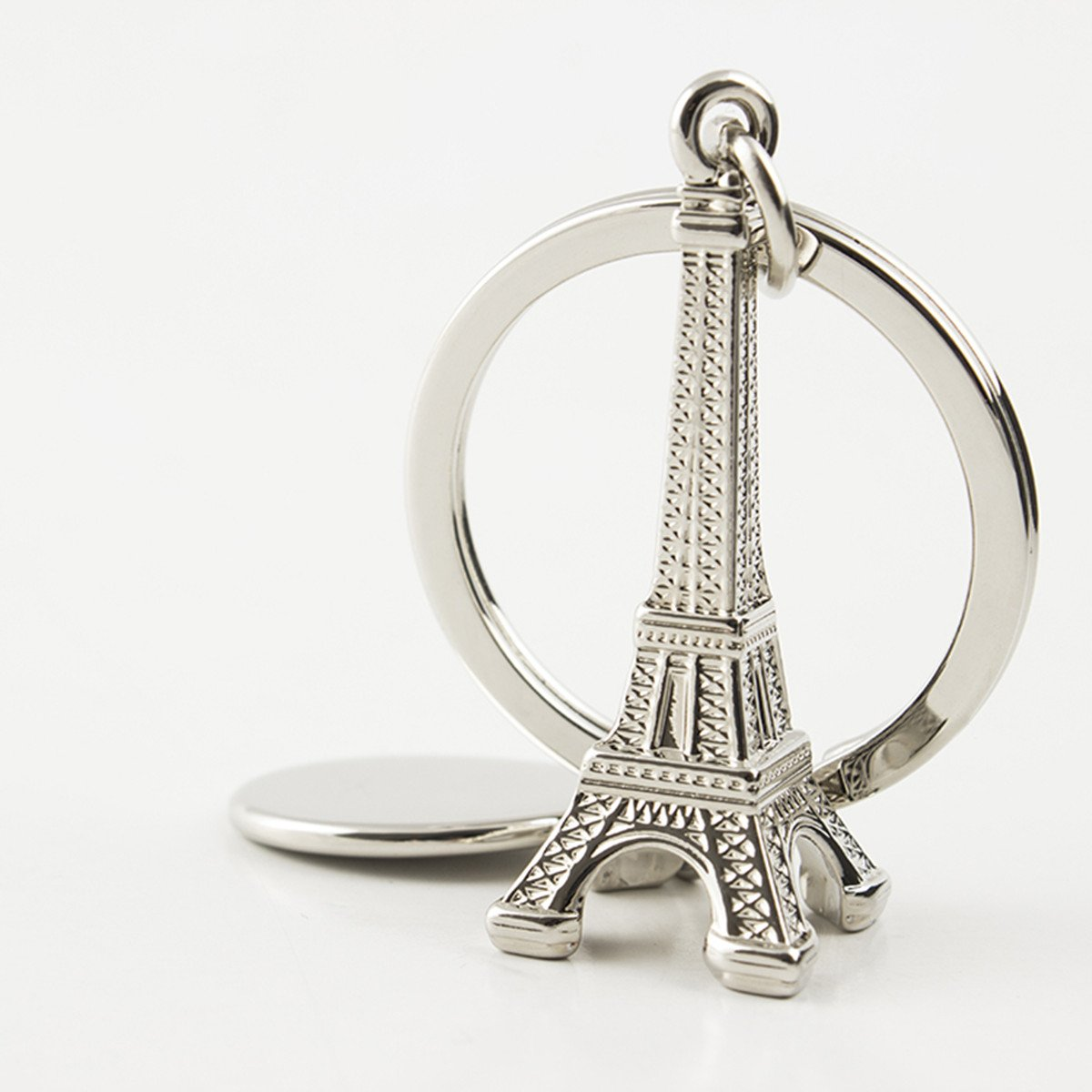 9abb24b195 Amazon.com : Reizteko Silver Eiffel Tower key chain favor from Paris,  French souvenirs key rings : Office Products
