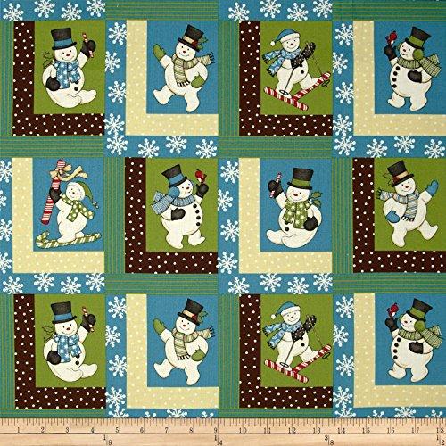 Sweetie Pie Snowmen Log Cabins Multi Fabric By The Yard (Patio Furniture Wilmington)