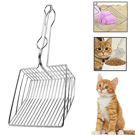 Amazon.com: GLBloomy - Pala de arena para gatos, metal ...