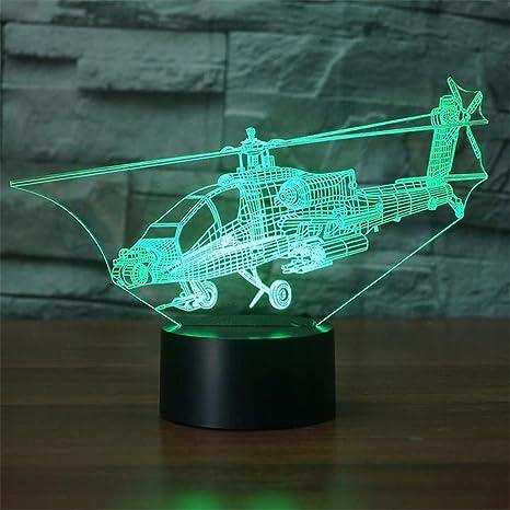 7 Vision 3d Led Nuit Avions Changement Couleur Avion De Creative R5Lq4j3A