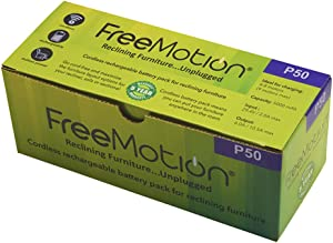FREEMOTION 5000 mAh Battery Power Recliner Rechargeable Battery Pack, for Sofa Battery, Sectional Battery, Furniture Battery, with Power Supply