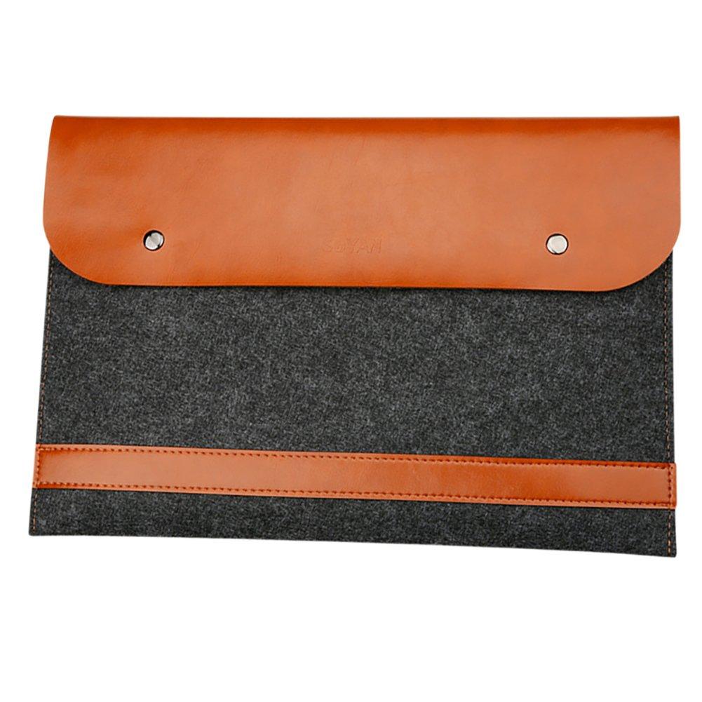 Laptop Bag Microfiber Leather and Cotton Felt Sleeve Case Cover for 11.6 macbook Black MISSMAO