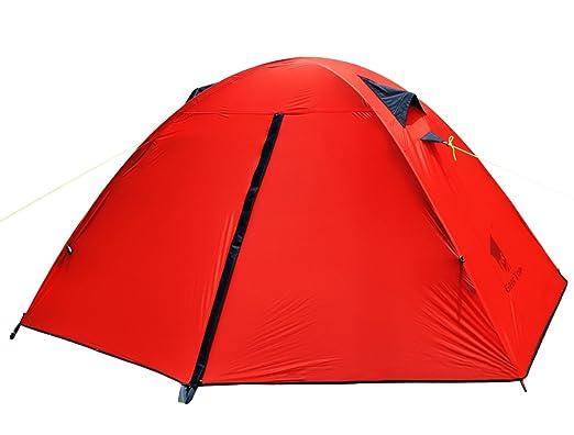 6 opinioni per GEERTOP® Tenda da campeggio Impermeabile Ultra Leggera Protezione UV- 1 Persone