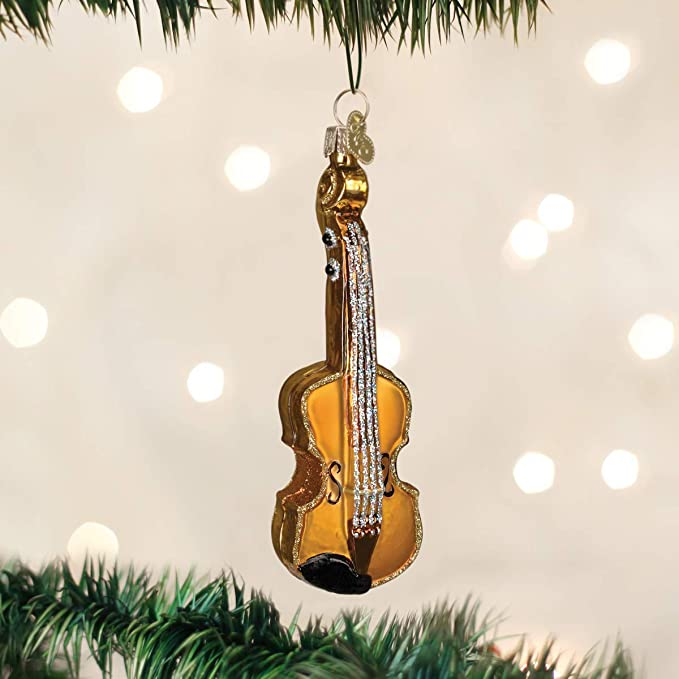 Violin Music Sheet Glittered Notes Personalized Ornament Orchestra Ornament