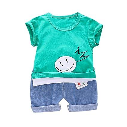 cf67dbca2 Amazon.com: ❤ Mealeaf ❤ Toddler Baby Kid Boy Stripe Cartoon ...