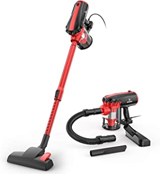 Moosoo 17KPa Strong Suction 4 in 1 Corded Stick Vacuum