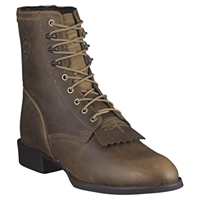 Ariat Men's Heritage Lacer Western Boot - Distressed Brown