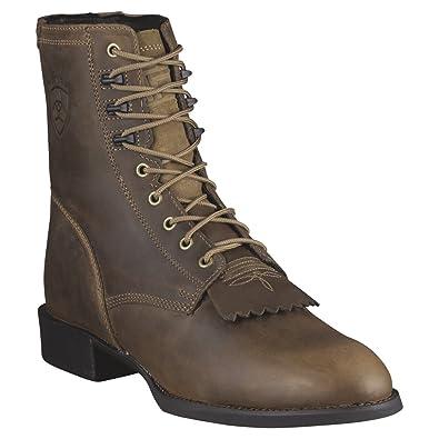 cc9b345de64 ARIAT Men's Heritage Lacer Western Boot - Distressed Brown