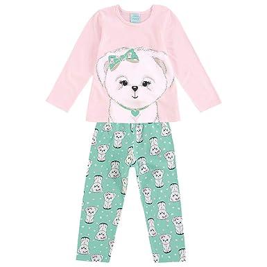 dfe28089b Pijama Infantil Feminino Blusa + Calça Kyly 109433.40074.12  Amazon ...