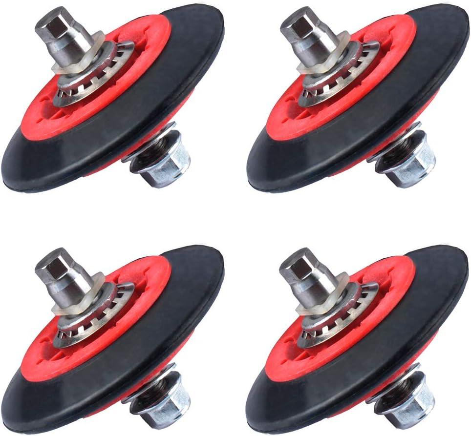 Gekufa 4581EL3001E Dryer Drum Roller Assembly Fit for LG, Kenmore, GE Replace Part # 4581EL3001C, PS8260240, AP5688895, 4581EL3001A, 4581EL2002A, 4581EL2002C (Pack of 4)