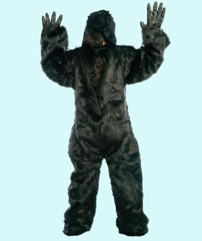 FesiAq Halloween chimpancé Ropa Puta Cosplay Disfraz Adulto Gorila ...