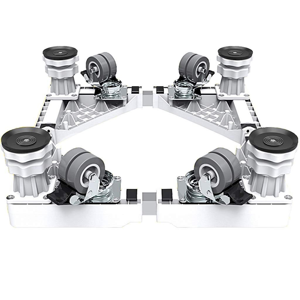 Adjustable Movable Base Bracket, Home Appliance Dolly, 4 Wheels, 4 Feet, Heavy Duty, Multi-Function