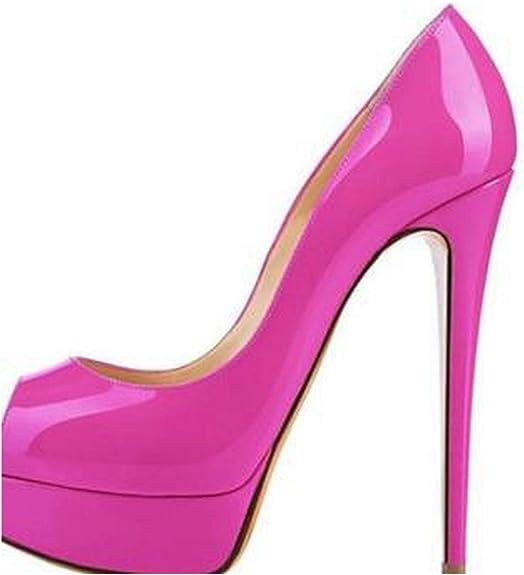 14 cm Absatzschuhe für Damen, Plateau-High Heels Pumps