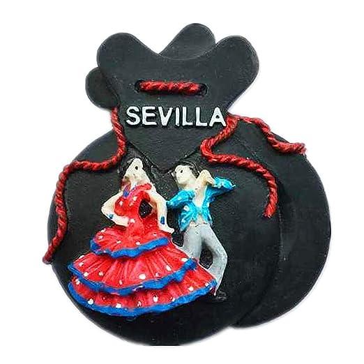 Hqiyaols Souvenir Lucky Bag Flamenco España Refrigerador 3D Imán ...