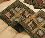 Tea Cabin Runner, Quilted - 13 x 36 Inches
