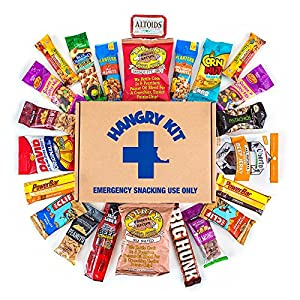 HANGRY MAN KIT Kit – Father's Day Gift For Dad – College Care Package – Full of What Men Crave – Nuts, Meat, Protein, and Snacks