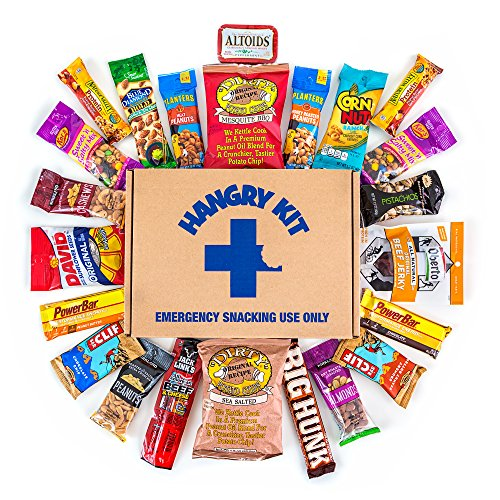 HANGRY MAN KIT Kit – Father's Day Gift For Men – College Care Package – Full of What Men Crave – Nuts, Meat, Protein, and Snacks