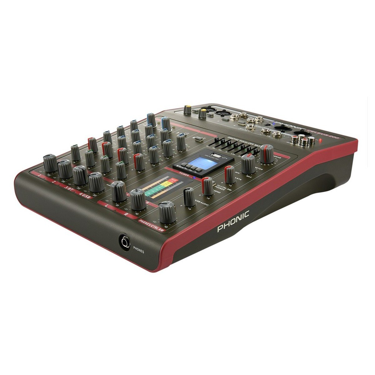 Phonic CELEUS 200 Mixer analogico con registratore USB e Bluetooth
