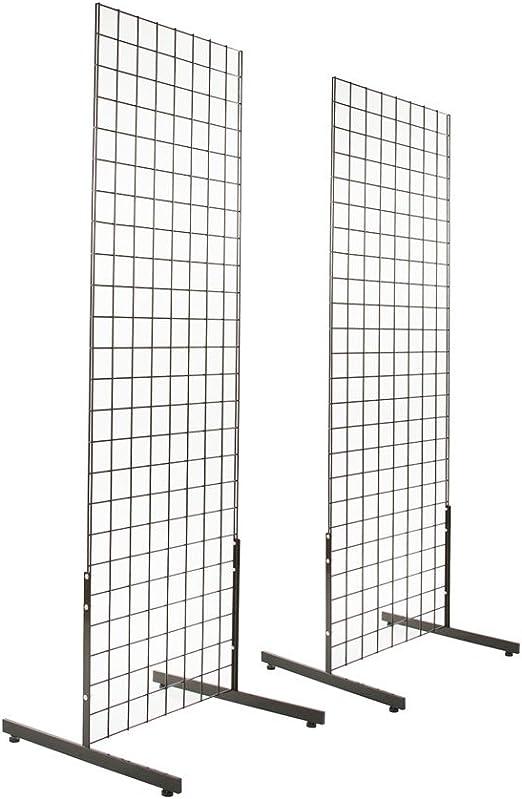 Grid Gridwall SlatGrid Panel Leg Stand Floor Wall Base Display Fixture Black New