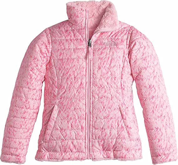 bdfd43955 Image Unavailable. Image not available for. Color: The North Face Kids Girl's  Reversible Mossbud Swirl Jacket ...