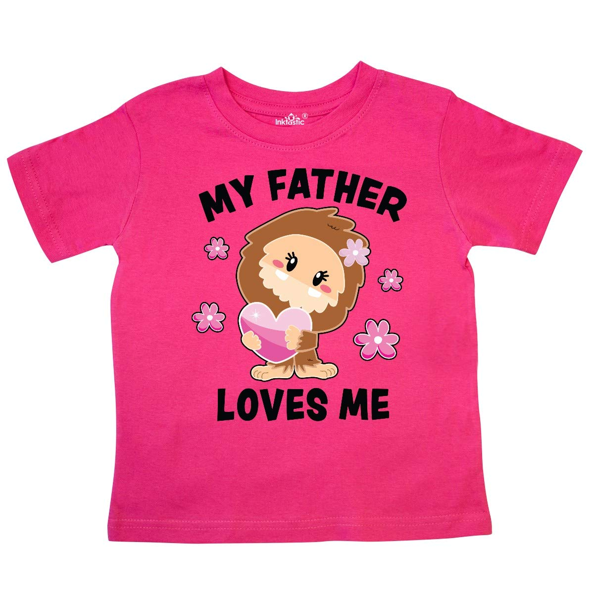 inktastic My Father Loves Me with Bigfoot Toddler T-Shirt