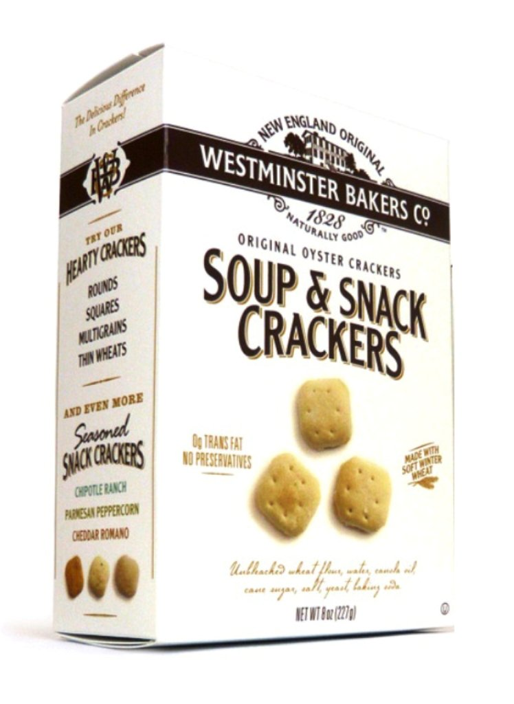 Westminster Bakers All Natural Crackers, Oyster, 8 Ounce (Pack of 12)