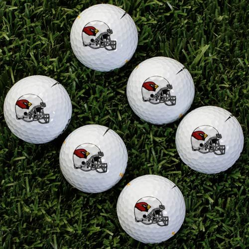 Wilson NFL Arizona Cardinals Golf Ball, Pack of 6 by Wilson