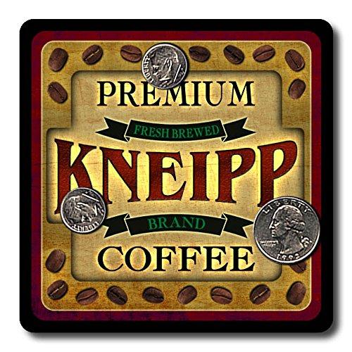 Kneipp Coffee Neoprene Rubber Drink Coasters - 4 Pack