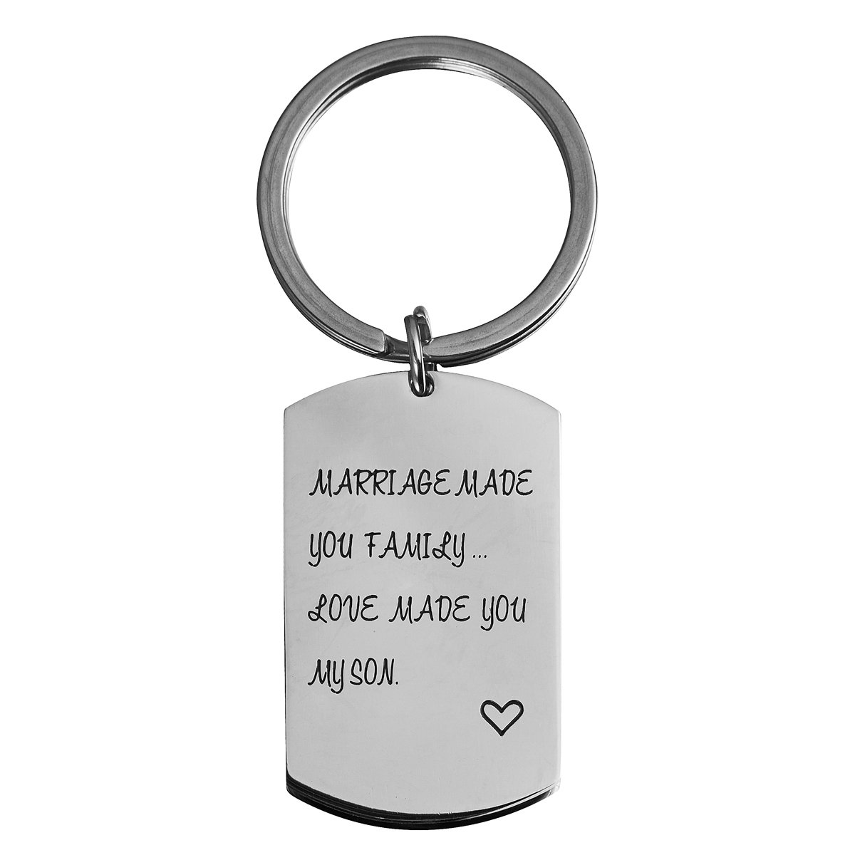 omodofo Marriage Made You My Family Love Made You My Son Wedding Party Gift Son In law Fathers Day Gift Keychain by omodofo (Image #1)