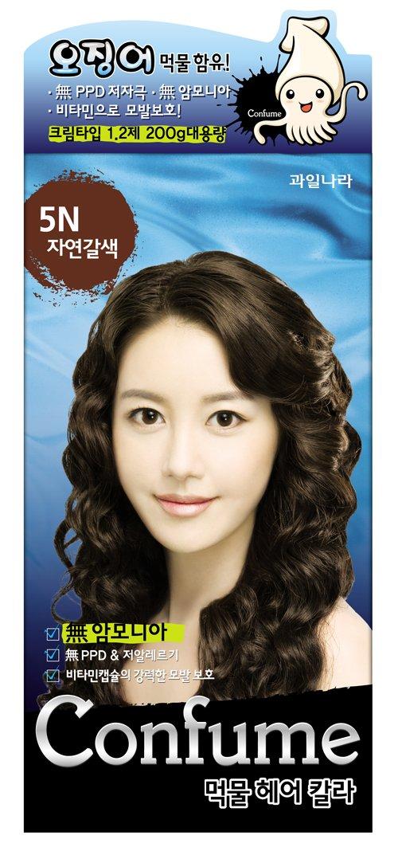 Confume Squid Ink Hair Color 5N-Brown